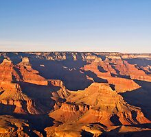 Evening light over the Grand Canyon by Alex Cassels