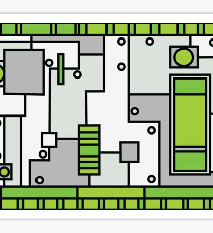 Metal Lab - Ghost Gear Green - Danny Phantom Sticker