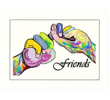 The Sign Language of FRIENDS Art Print