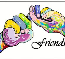 The Sign Language of FRIENDS by EloiseArt