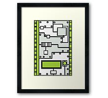 Metal Lab - Ghost Gear Green v2.1 - Danny Phantom Framed Print