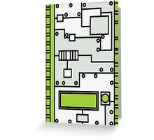 Metal Lab - Ghost Gear Green v2.1 - Danny Phantom Greeting Card