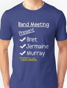 Flight of the Conchords - Band Meeting T-Shirt