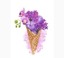 Lilac Ice Cream - Watercolor Food Illustration  Unisex T-Shirt