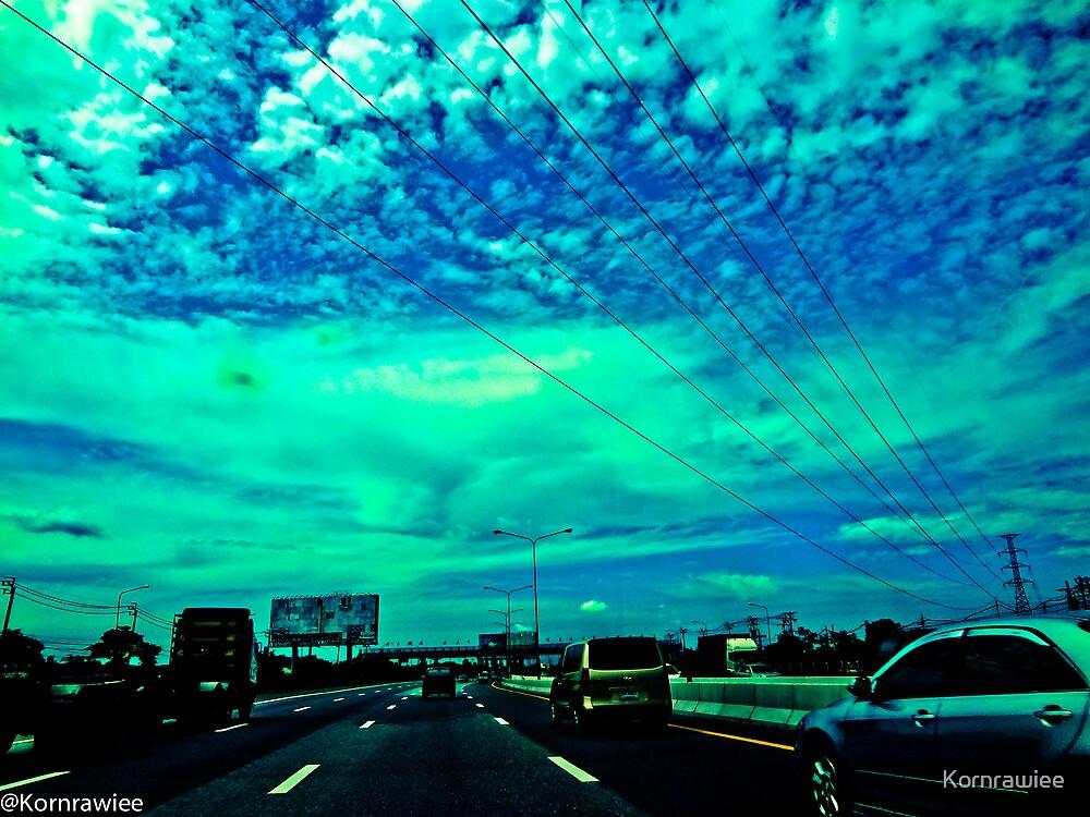 Blue world... by Kornrawiee