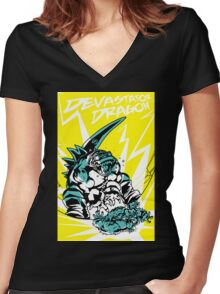 Devastator Dragon - Finisher Tee Women's Fitted V-Neck T-Shirt