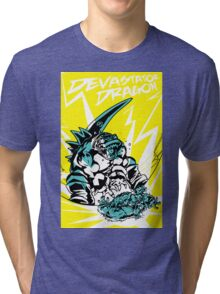 Devastator Dragon - Finisher Tee Tri-blend T-Shirt