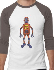Retro Robot Men's Baseball ¾ T-Shirt