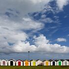 Beach Huts, Torbay, England by KUJO-Photo