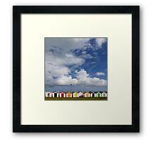 Beach Huts, Torbay, England Framed Print