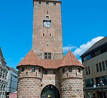 White tower in Nuremberg, Germany by Vac1