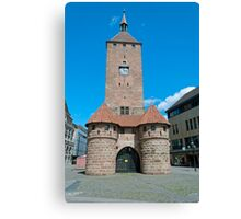 White tower in Nuremberg, Germany Canvas Print