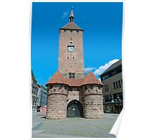 White tower in Nuremberg, Germany Poster