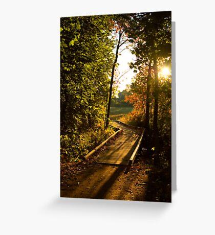 Footpath Bridge Greeting Card