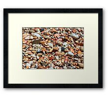 Water Soaked Pebbles Framed Print