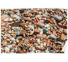 Water Soaked Pebbles Poster
