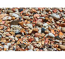 Water Soaked Pebbles Photographic Print