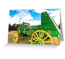 Antique Wagon Greeting Card