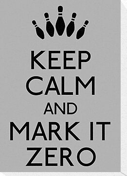 Keep calm and mark it zero (black) by karlangas