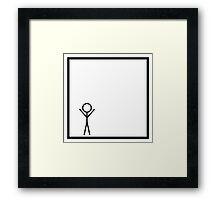 Stickman Framed Print