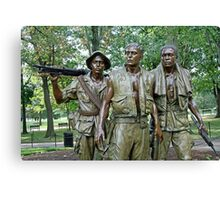 Three Soldiers Statue Canvas Print
