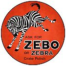 Vintage Zebo the Zebra Grate Polish Sign Reproduction by JohnOdz