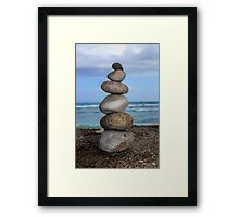 Stacked Pebbles 01 Framed Print