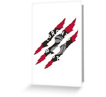 Toronto Raptors claw marks Greeting Card
