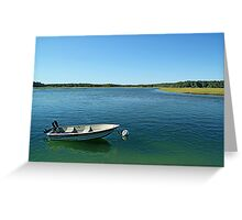 Boat and marsh Greeting Card