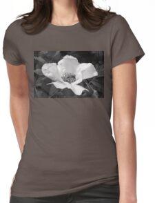 Black Jetbead Flower (bw) Womens Fitted T-Shirt