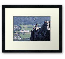Climbing Katrin Framed Print
