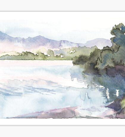 Dawn Over The Lake Sticker