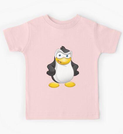 Penguin - Hands On Hips Kids Tee