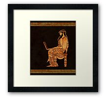 Ancient Greek Businessman Framed Print