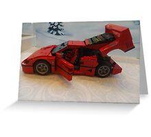 Lego Ferrari, Lego Rockefeller Center Store, Rockefeller Center, New York City Greeting Card