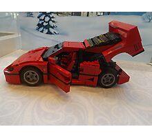 Lego Ferrari, Lego Rockefeller Center Store, Rockefeller Center, New York City Photographic Print