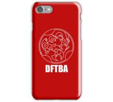 DFTBA - Gallifreyan (White) iPhone Case/Skin