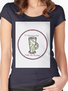 Latte Like Christmas Women's Fitted Scoop T-Shirt