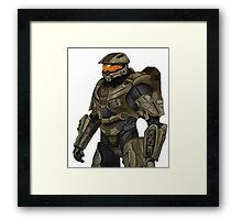 Master Chief Digital Painting Framed Print