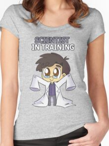 Scientist in Training Women's Fitted Scoop T-Shirt