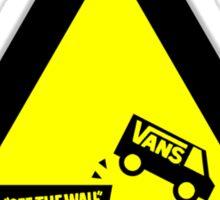 Vans! Off The Wall! Literally!! Sticker