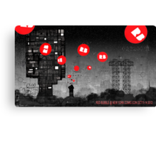 Red Bubble Poster !  Canvas Print