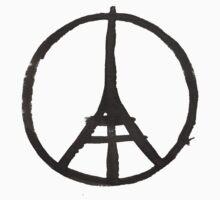 Eiffel Tower Peace Symbol Paris Terror Attacks One Piece - Long Sleeve