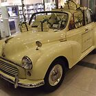 Classic Morris Minor 1000 Car, Time Warner Center, Columbus Circle, New York City by lenspiro