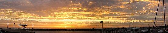 Fiery Sunset by Neil Huber