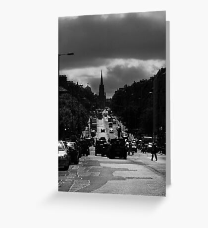 Hanover Street - Princes Street Greeting Card