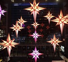 Holiday Light Show, Time Warner Center, Columbus Circle, New York City by lenspiro
