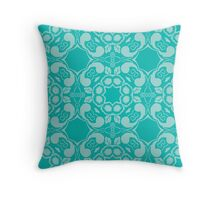 Blue Floral Design Throw Pillow
