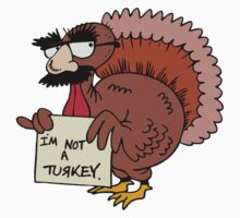 "Thanksgiving ""I'm Not A Turkey"" T-Shirt Kids Clothes"