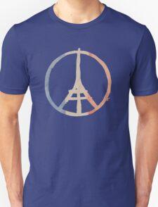 Paris Peace Eiffel Tower in Tricolor Colors T-Shirt